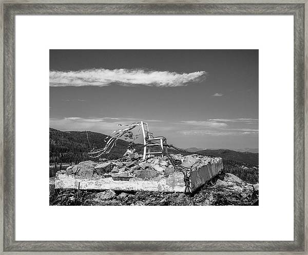 Beacon / The Chair Project Framed Print