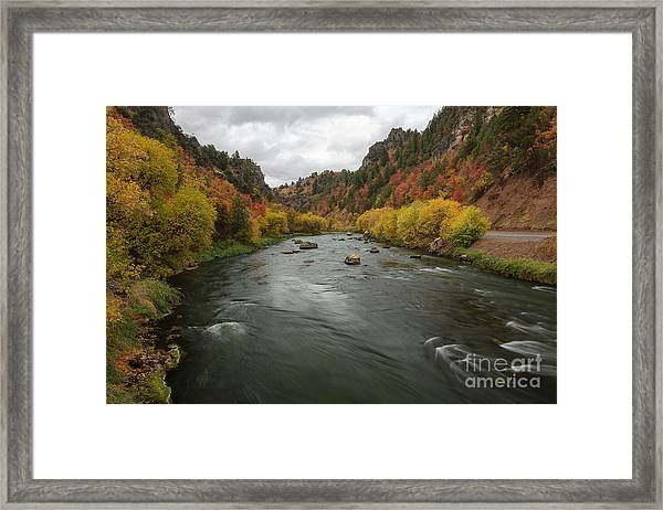 Bear River Autumn Framed Print