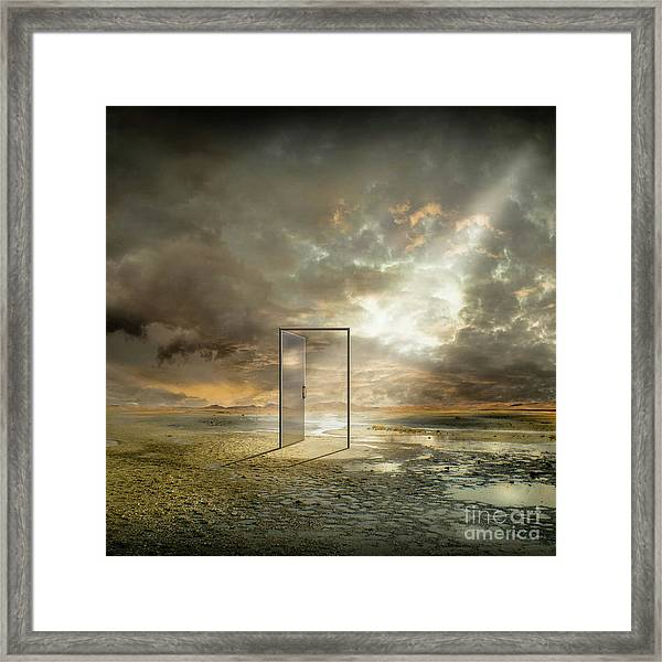 Behind The Reality Framed Print