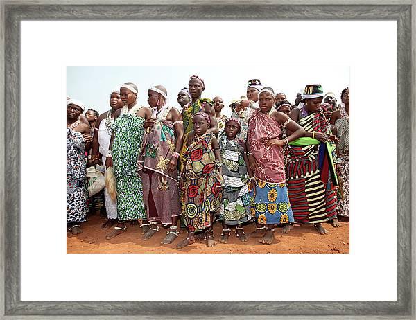 Benins Mysterious Voodoo Religion Is Framed Print by Dan Kitwood