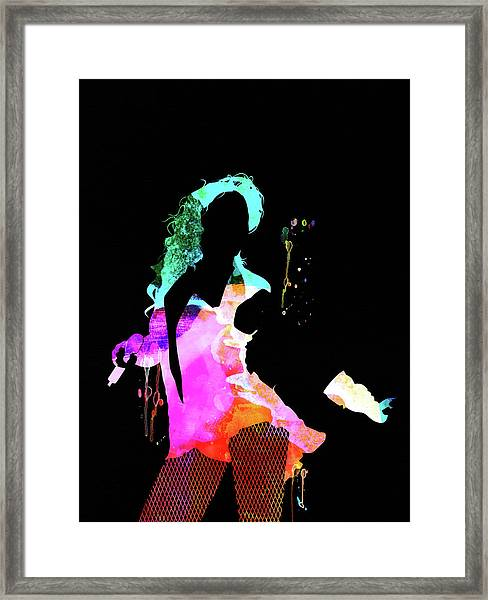 Beyonce Watercolor Framed Print