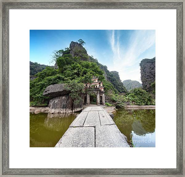 Bich Dong Pagoda In Ninh Binh, Vietnam Framed Print