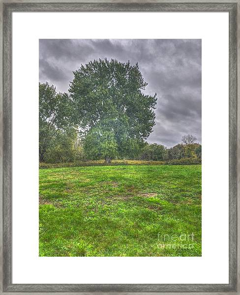 Blacklick Circle Earthwork Framed Print