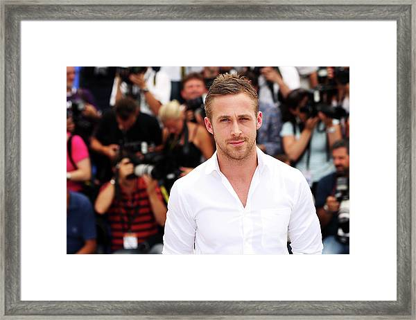 Blue Valentine - Photocall Cannes Film Framed Print by Sean Gallup