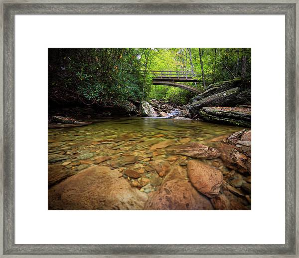 Boone Fork Bridge - Blue Ridge Parkway - North Carolina Framed Print