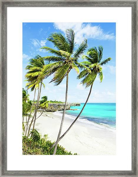 Bottom Bay, Barbados Framed Print