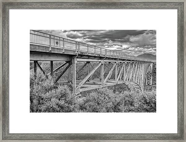 Framed Print featuring the photograph Bridge Perspective by Britt Runyon