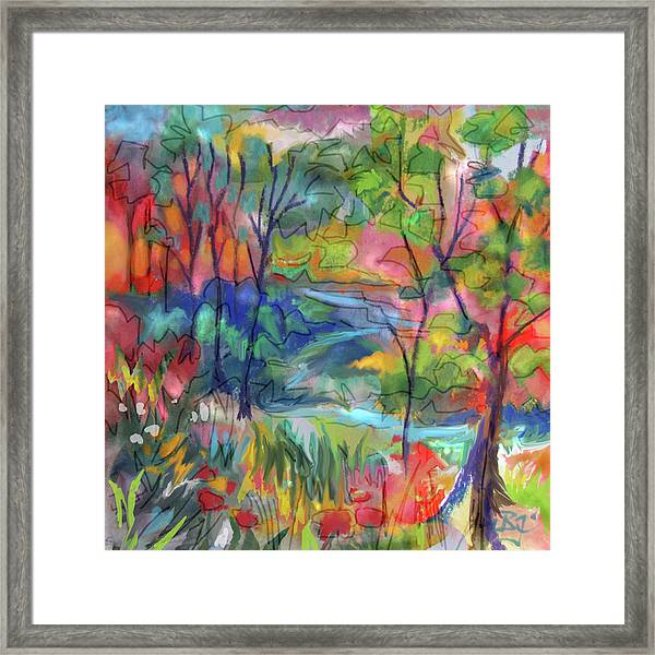 Bright Country Framed Print