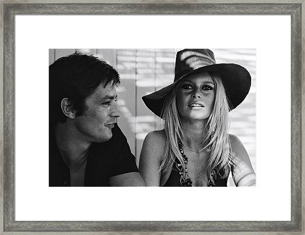 Brigitte Bardot In Saint Tropez, France Framed Print