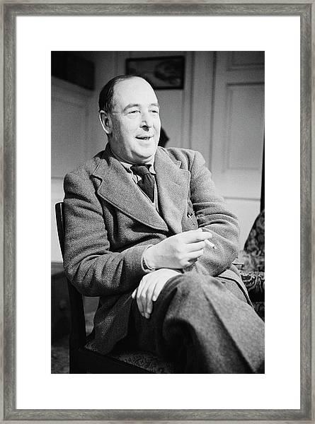 C S Lewis Framed Print by John Chillingworth