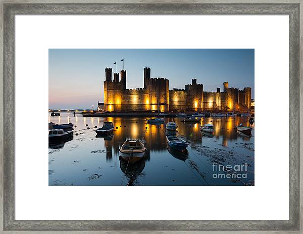 Caernarfon Castle , North Wales Framed Print