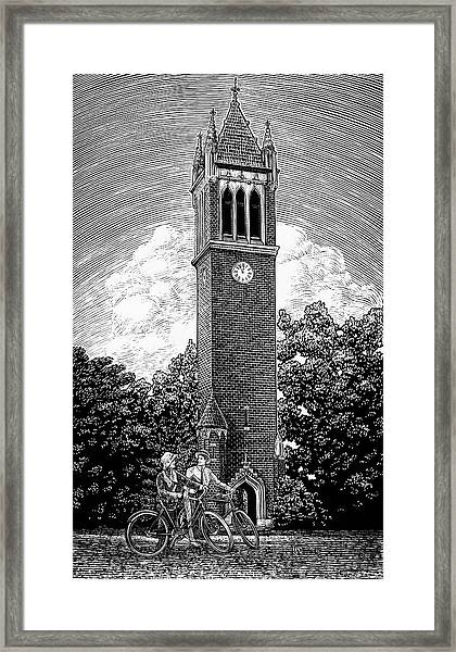 Framed Print featuring the drawing Campanile 1928 by Clint Hansen