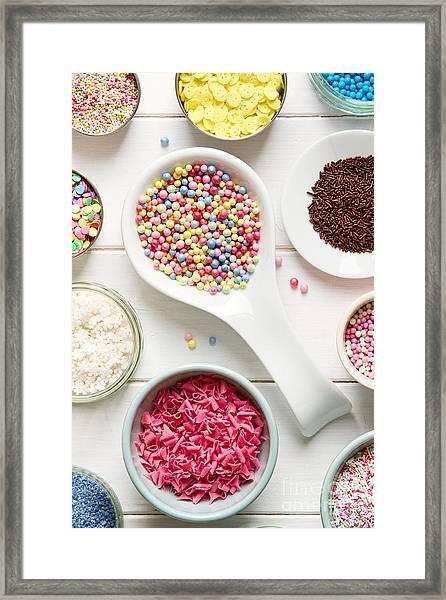 Candy Sprinkles Framed Print
