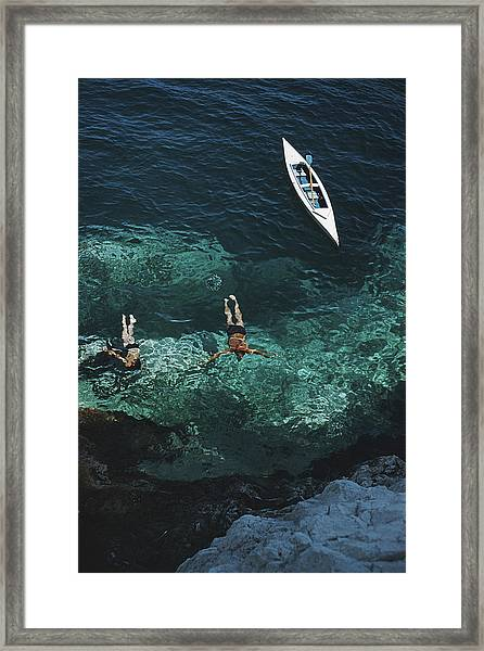 Capri Holiday Framed Print