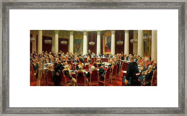 Ceremonial Sitting Of The State Council On 7 May 1901 Framed Print