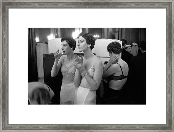 Champagne Break Framed Print by Kurt Hutton