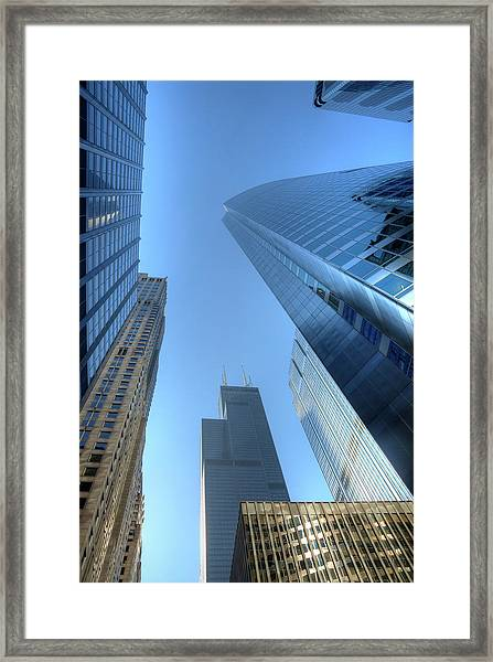 Chicago Skyline Skyscraper Framed Print