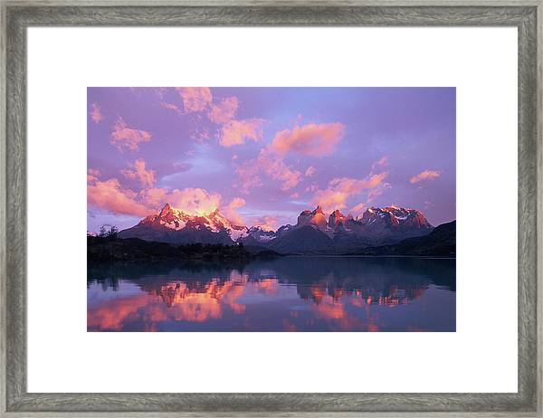 Chile, Patagonia, Torres Del Paine Np Framed Print
