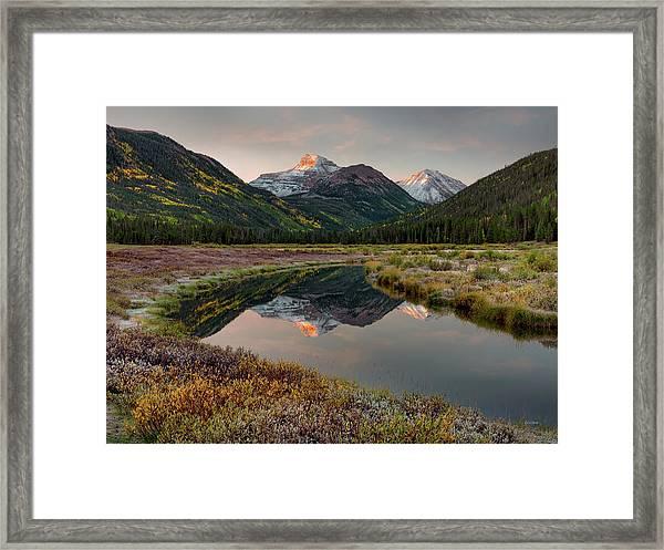 Christmas Meadows Autumn Framed Print by Leland D Howard