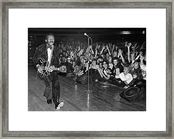 Chuck Berry In Concert At The Palladium Framed Print