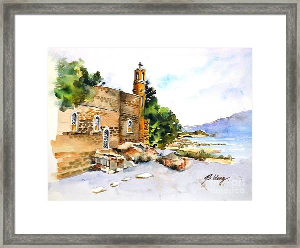 Church Of Primacy, Galilee Framed Print
