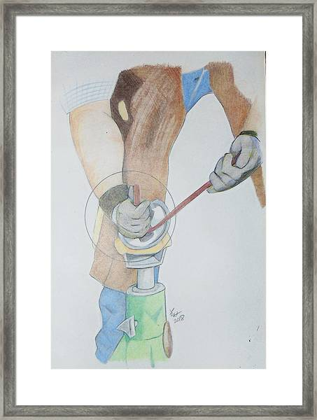 Clipping Hooves Framed Print