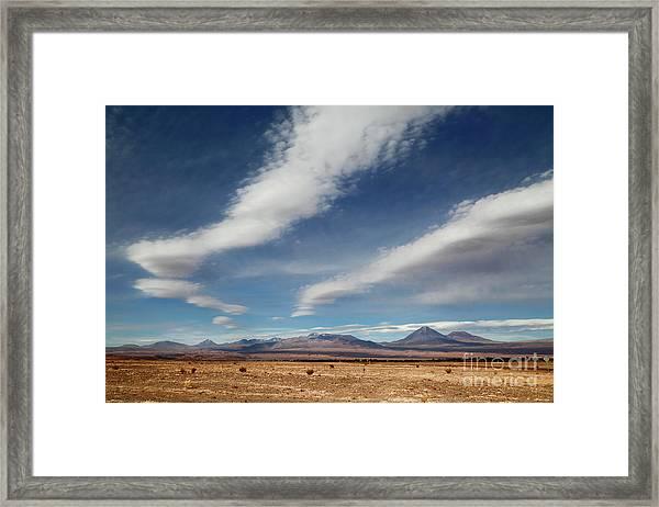 Clouds Over The Atacama Desert Chile Framed Print