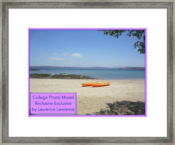 College Photo Model Bn Framed Print