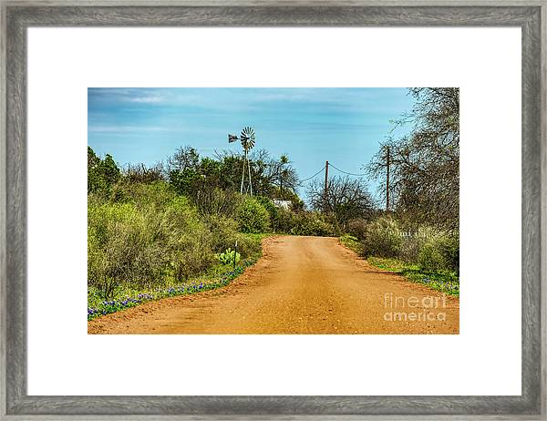 Country Road Framed Print by Elijah Knight