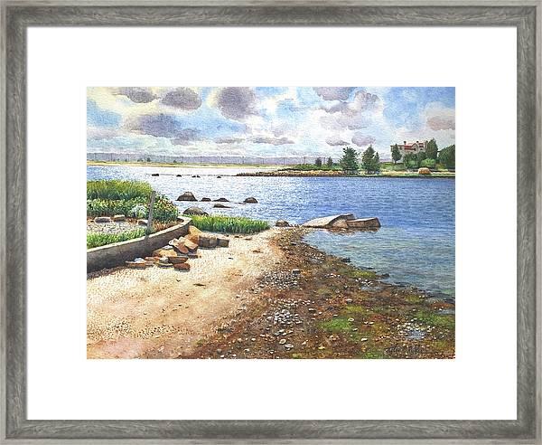 Crab Rock, Low Tide Framed Print