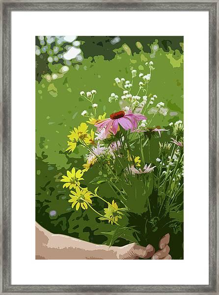 Cut Flowers Framed Print