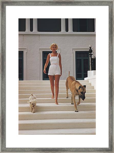 C.z. Guest Framed Print by Slim Aarons