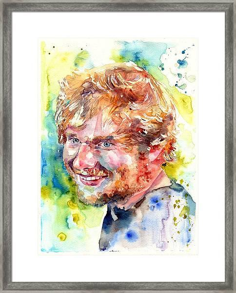 Ed Sheeran Framed Print