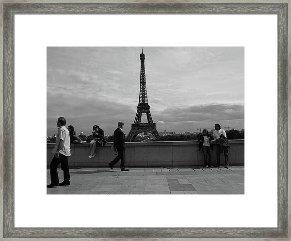 Eiffel Tower, Tourist Framed Print