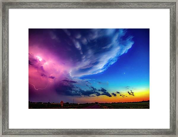 Epic Nebraska Lightning 007 Framed Print