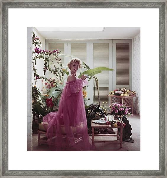 Eva Gabor Framed Print by Slim Aarons