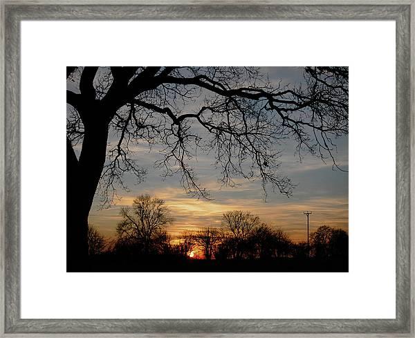 Evening Fades Away Framed Print