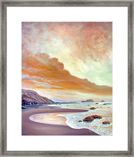 San Simeon Beach Framed Print