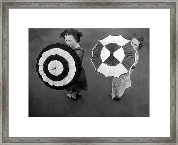 Fashion Parasols Framed Print