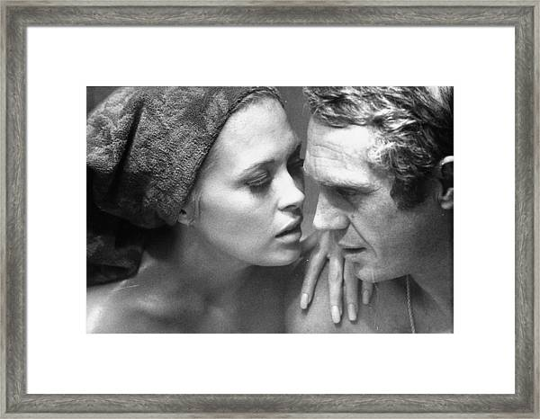 Faye Dunawaysteve Mcqueen Framed Print by Bill Ray