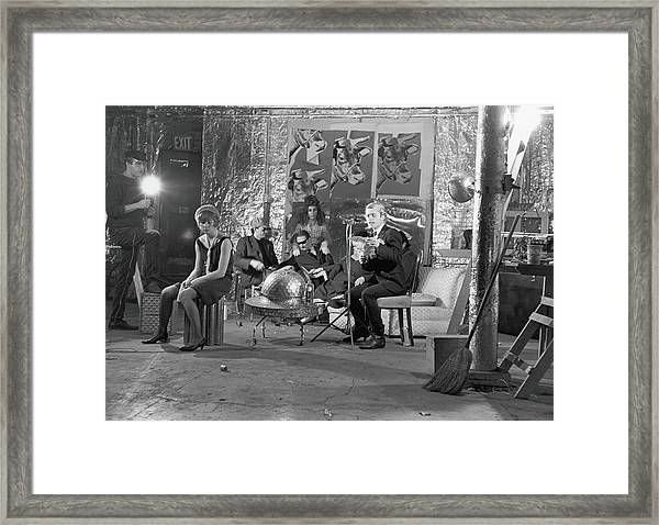 Filming Camp At The Factory Framed Print