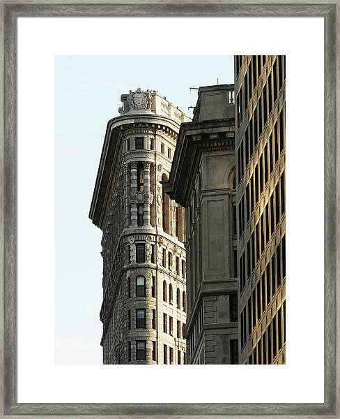Flatiron Building In Nyc Framed Print