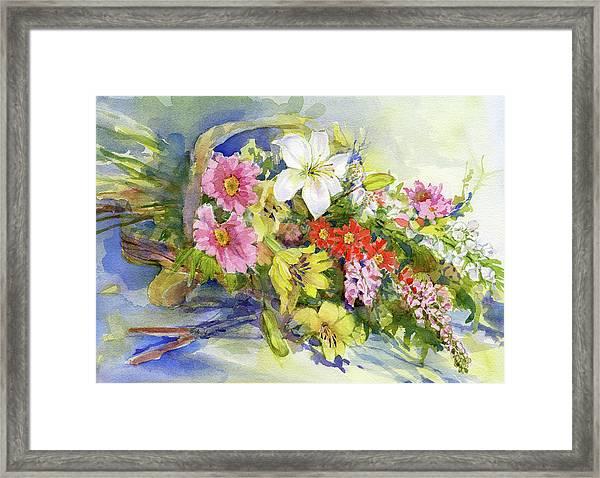 Flower Basket Framed Print