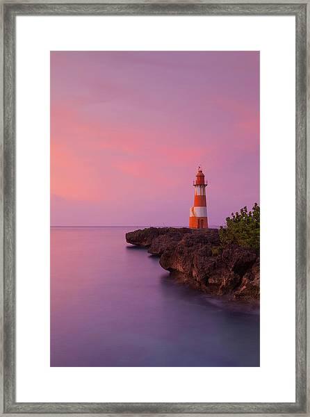 Folly Point Lighthouse, Port Antonio Framed Print