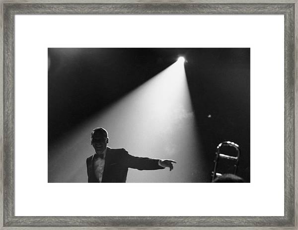 Frank Sinatra On Stage Framed Print