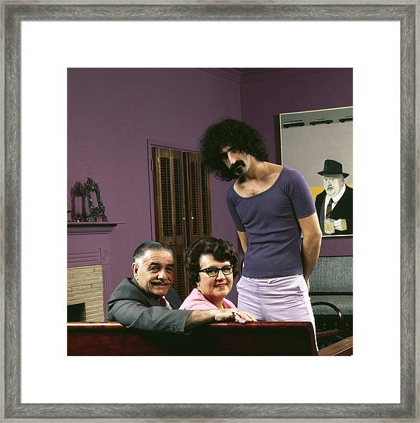 Frank Zappa & His Parents Framed Print