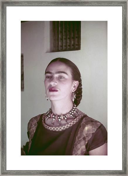 Frida Kahlo Framed Print by Michael Ochs Archives