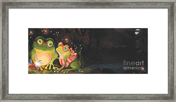 Frogs Of Silver Lake Framed Print