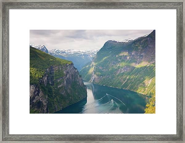 Geirangerfjord, Western Fjords, Norway Framed Print