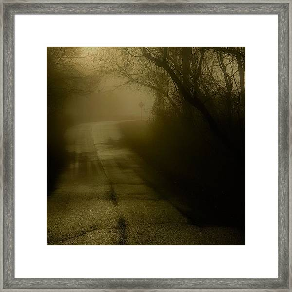 Golden Fog Framed Print